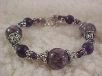 Third Eye Chakra Charm Bracelet in Charoite