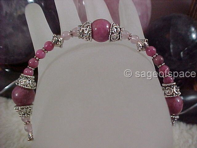 Goddess of Love Bracelet in Pink Stones