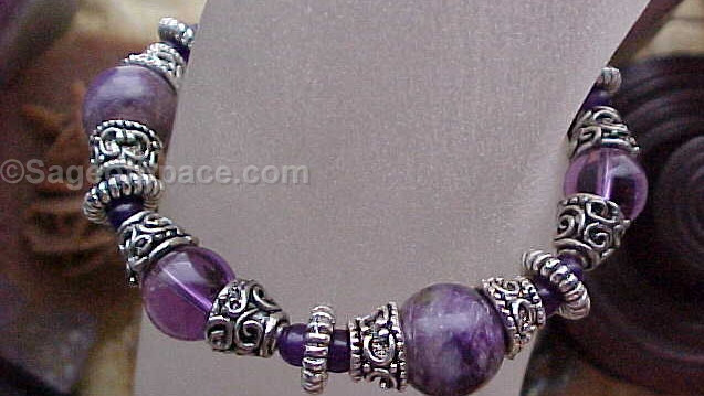 Genie Bracelet; Purple; Anja Chakra Bracelet Third Eye Charm Bracelet inspired by I Dream of Jeannie