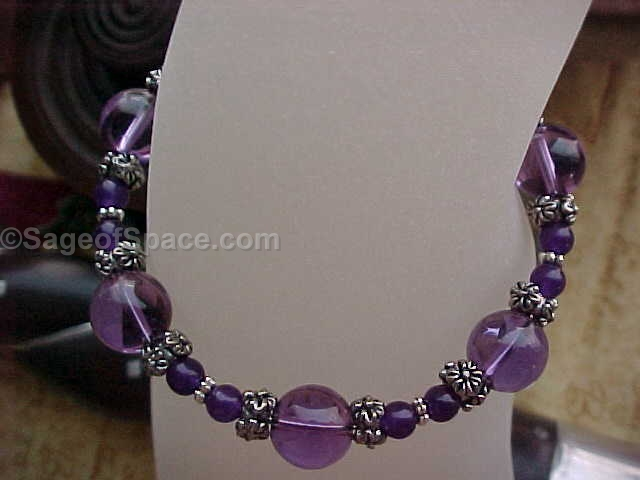 Amethyst Quartz Crystal Bracelet made by an Energy Psychic