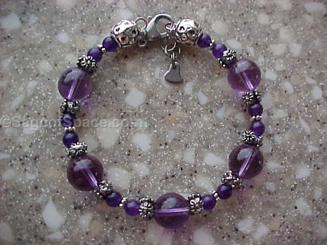Amethyst Crystal Bracelet for the crown chakra
