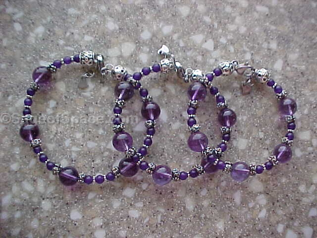 Amethyst Crystal Bracelet made by an Energy Psychic for Kundalini shakti, chakras, Chi, Psychic energy