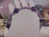 Crown Chakra Bracelet in Amethyst Crystal