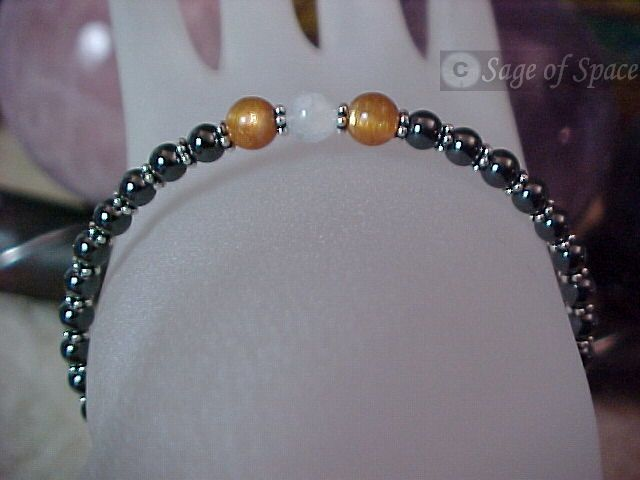Old Witchcraft Protection Bracelet Sunstone Moonstone Goddess God - Handcrafted by an Energy Psychic in your size!