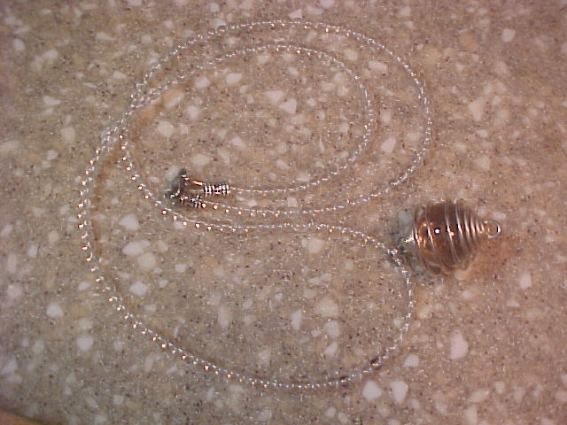 Magick Crystal Ball Necklace for Wiccans, Witches, Pagans