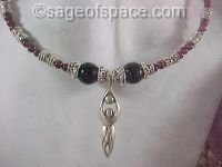 Triple Moon Goddess Necklace wiccan pagan