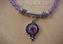 Amethyst Crystal Goddess Necklace wiccan witch