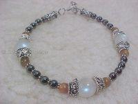 Moon Goddess Protection Bracelet & Sun God! Moonstone & Sunstone