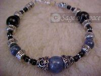 Third Eye Chakra BLAST!!! Bracelet | Kyanite Black Quartz or Onyx
