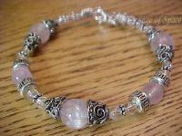Kunzite Infinity Bracelet in Sterling Silver 925; Third Eye & Crown Chakra bracelet made by an Energy Psychic!