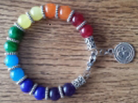 7 Chakra  Bracelet in candy colors