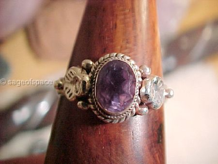 Dream Ring|Amethyst Crystal|Lucid Dream Instructions|Wiccan Witch Pagan